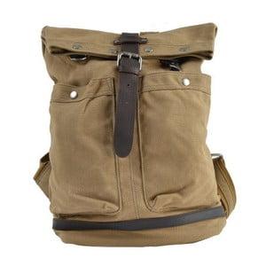 Brązowo-szary skórzany plecak Adventurer