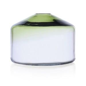Szklany wazon Islanda Green/Clear, 16 cm