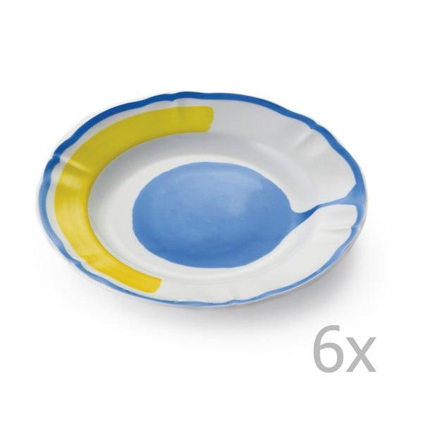 Zestaw 6 talerzyków deserowych Giotto Yellow/Blue