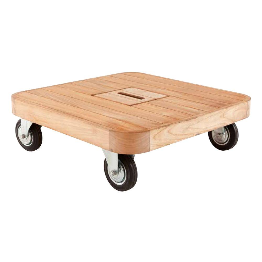 Niski stolik ogrodowy na kółkach z drewna tekowego Ezeis Resort