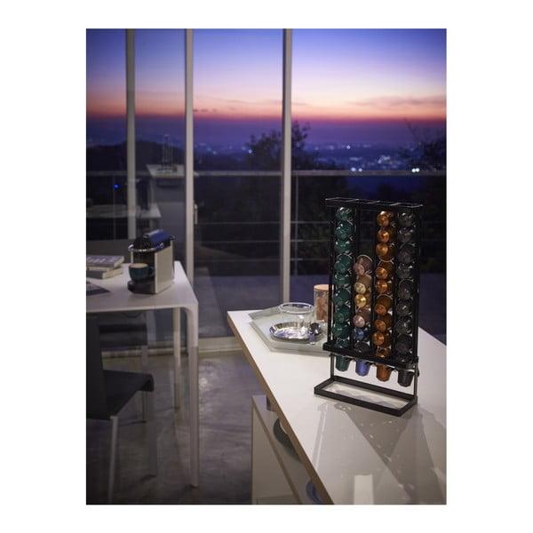 Czarny stojak na kapsułki kawy YAMAZAKI Tower, szer. 17,5 cm
