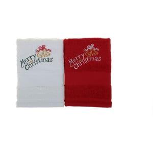 Zestaw 2 ręczników Merry Christmas Red&White, 50x100cm