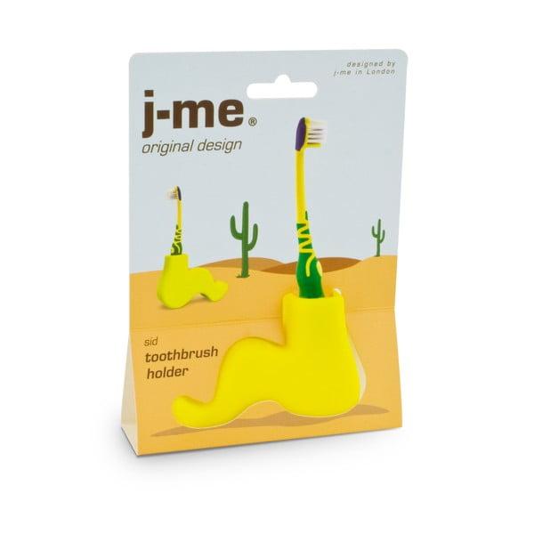 Żółty stojak na szczoteczkę do zębów J-Me Sid