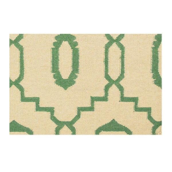 Ręcznie tkany dywan Kilim JP 11031 Green, 90x150 cm
