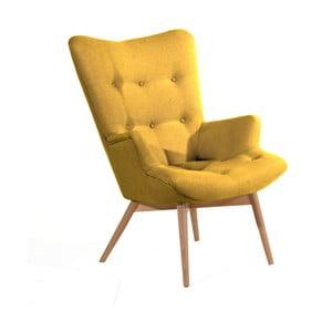 Żółty fotel Max Winzer Aiko