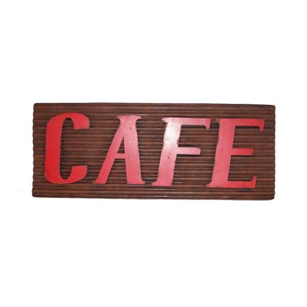 Tabliczka z blachy Antic Line Cafe, długość 76cm