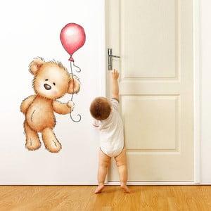 Naklejka ścienna Miś i balon,  70x50 cm