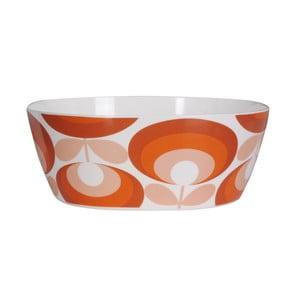 Pomarańczowo-biała miska Orla Kiely Flower Salad Bowl