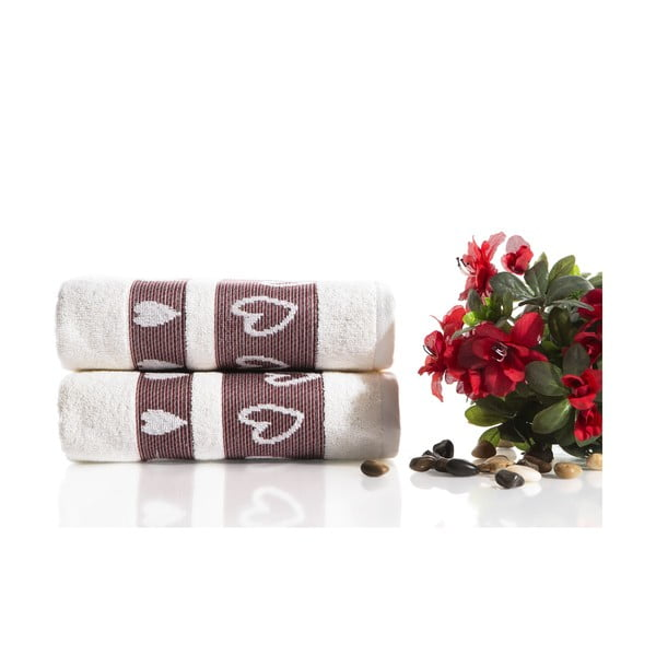 Zestaw 2 ręczników Larisa V3, 50x90 cm