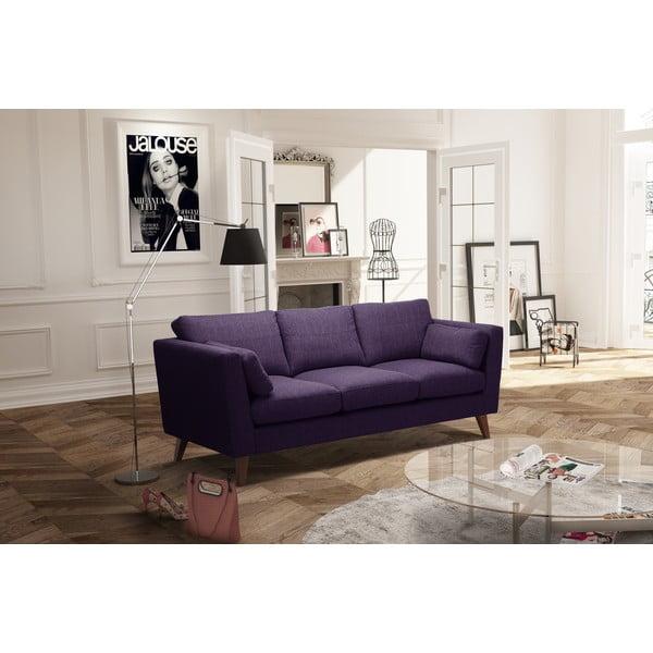 Fioletowa sofa trzyosobowa Jalouse Maison Elisa