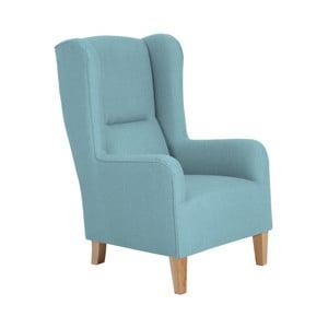 Niebieski fotel Max Winzer Bruno