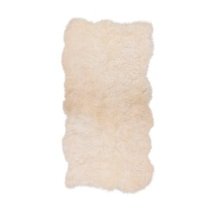 Biały dywan futrzany z krótkim włosiem Darte, 170x110cm
