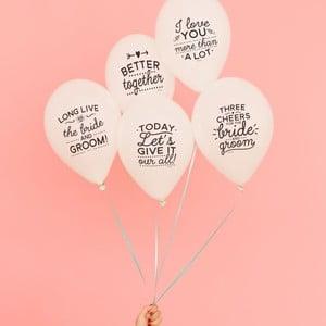 Zestaw 10 baloników Mr. Wonderful Wedding