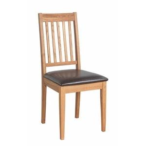 Zestaw 2 naturalnych krzeseł z drewna dębowego Folke Ella