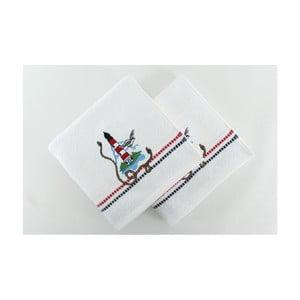 Zestaw 2 ręczników Marina White Denis, 50x90 cm