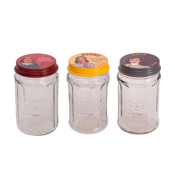 Zestaw 3 słoików Glass Jar