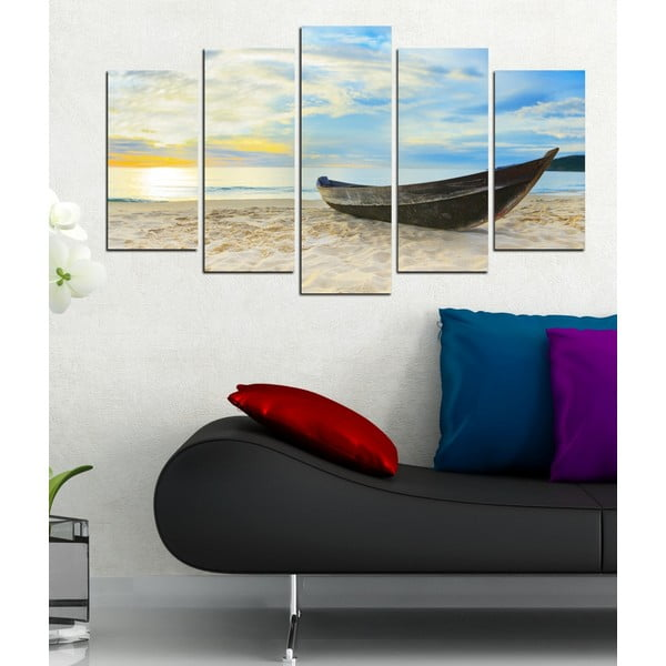 5-częściowy obraz Na plaży