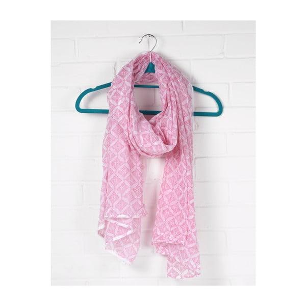 Szal Print Tile Hot Pink