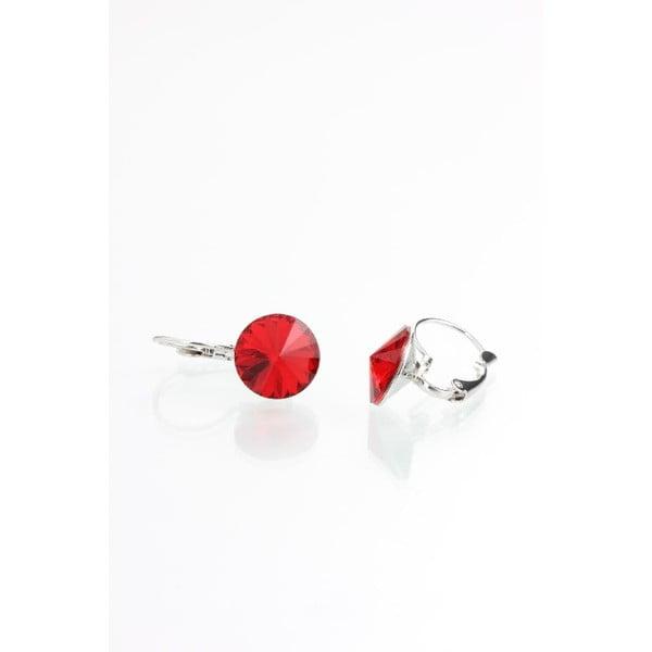 Czerwone   kolczyki z kryształami Swarovskiego Yasmine Longie