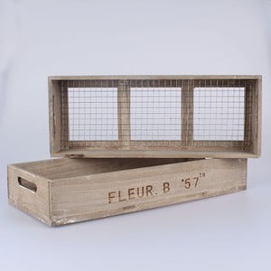 Zestaw 2 skrzynek z siatką Fleur B57