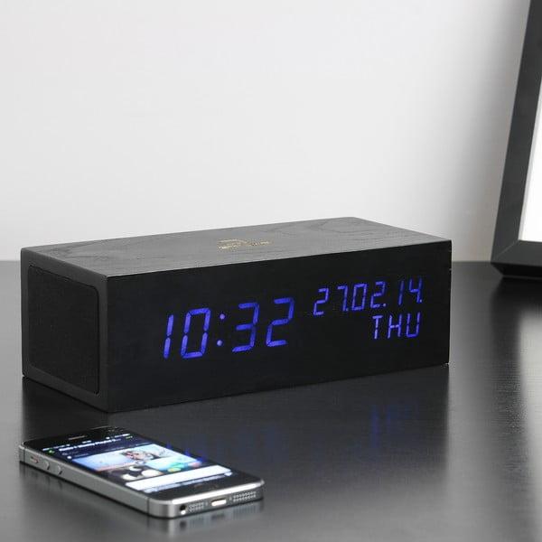 Głośnik Click Clock z budzikiem z niebieskim LED, czarny