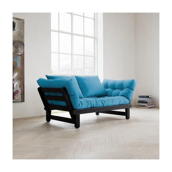 Sofa rozkładana Karup Beat Black/Horizon Blue