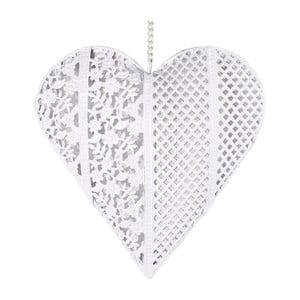 Dekoracyjne serduszko z metalu, białe