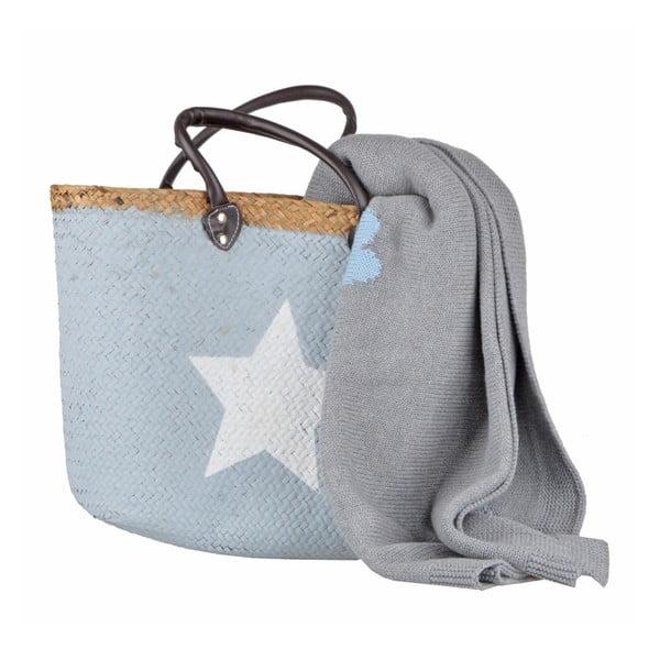 Wiklinowy koszyk Star Blue