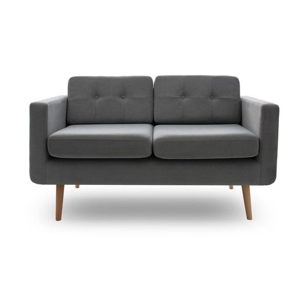 Sofa dwuosobowa VIVONITA Sondero Light Grey, naturalne nogi