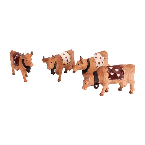 Zestaw 4 figurek ozdobnych Cow