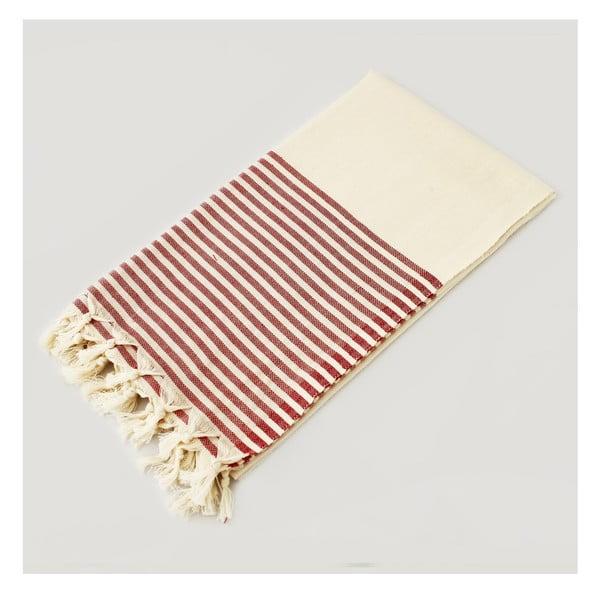 Ręcznik hammam Marine Style Natural Red, 100x180 cm