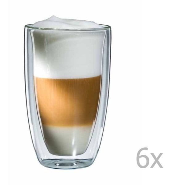 Zestaw 6  szklanek na latte macchiato bloomix