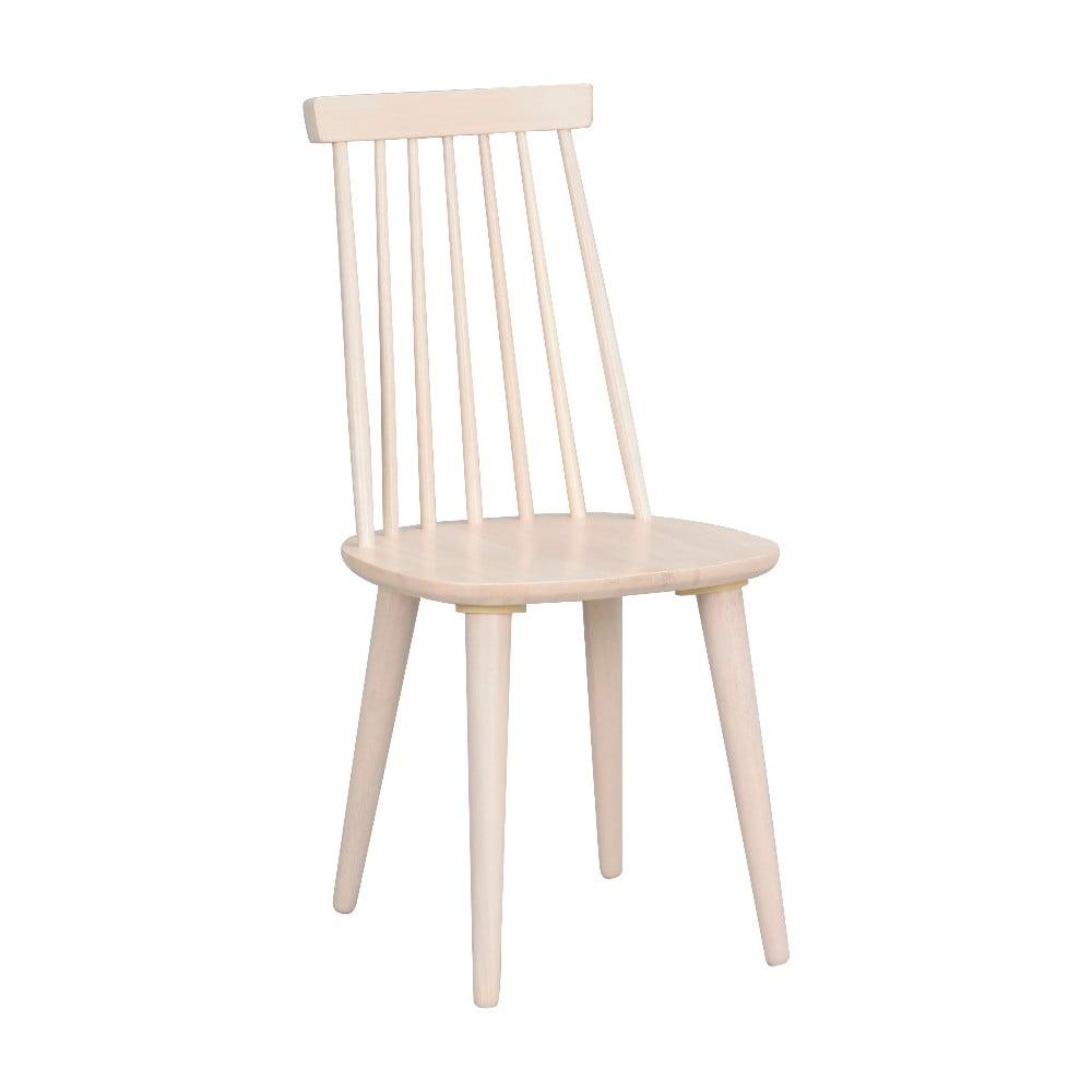 Beżowe krzesło do jadalni z drewna kauczukowca Rowico Lotta