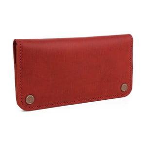 Czerwony portfel skórzany Woox Triviala Purpurea