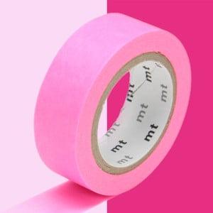 Różowa taśma dekoracyjna washi MT Masking Tape Uni
