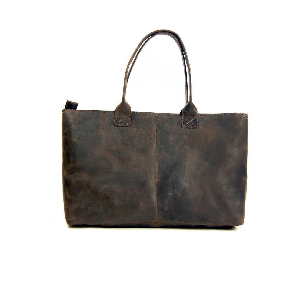 cfd8ee12d26c9 Ciemnobrązowa skórzana torebka vintage O My Bag Madam Rose ...