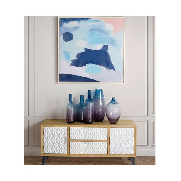 Niebieski wazon kryształowy Santiago Pons Ryde, wys. 44 cm