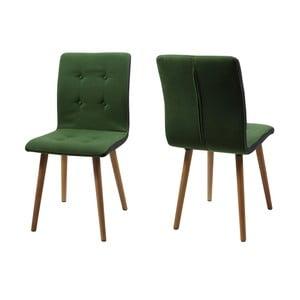 Komplet 2 krzeseł Frida, zielone