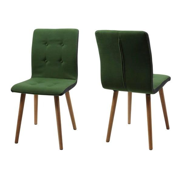 Zestaw 2 zielonych krzeseł Actona Frida