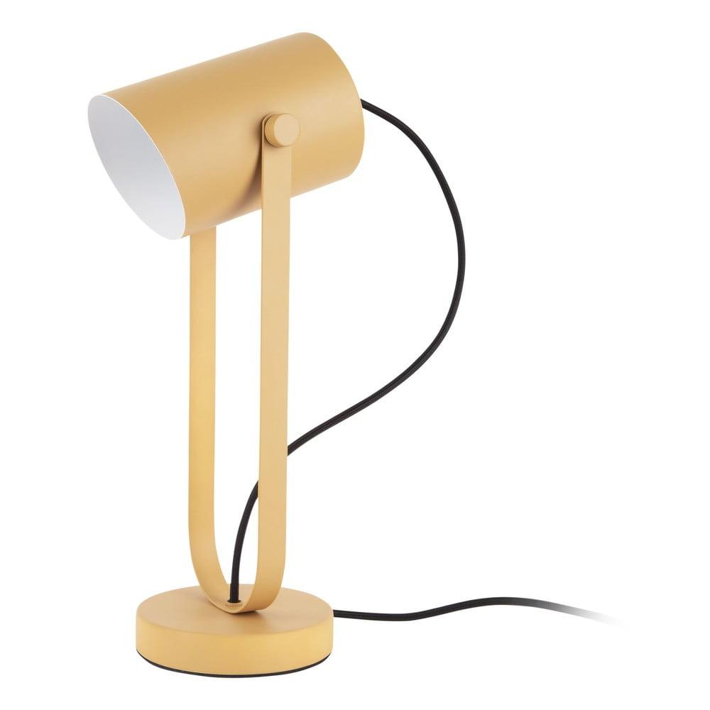 Żółta lampa stołowa Leitmotiv Snazzy