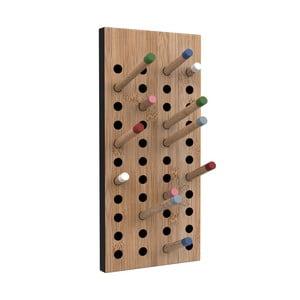 Mały wiszący wieszak bambusowy We Do Wood Scoreboard,wys.36cm