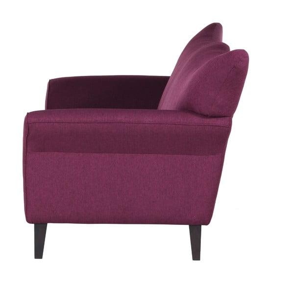 Fioletowa   sofa trzyosobowa Wintech Carmen Portland
