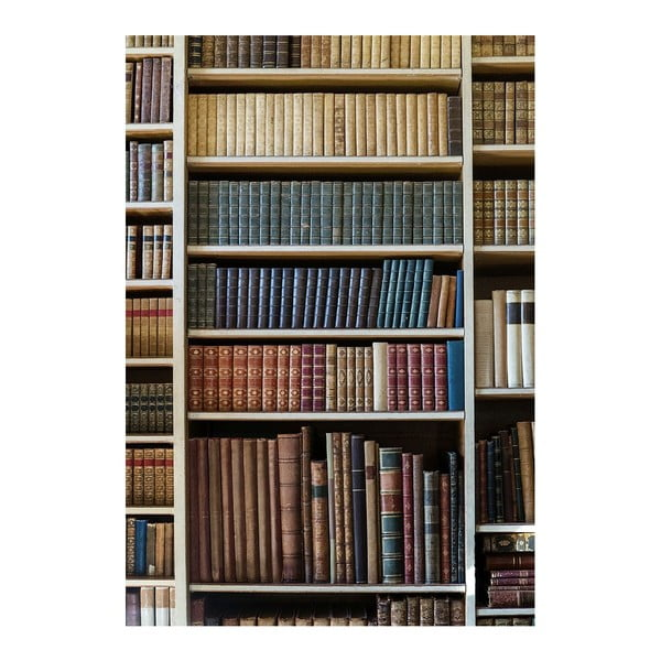 Dywan winylowy Bookcase, 52x75 cm