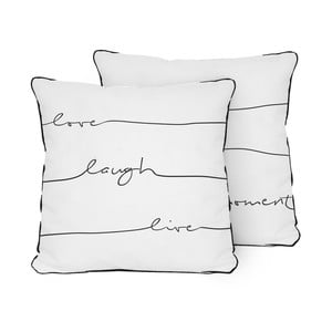 Poduszka Pillow Live Laugh Love, 45x45 cm