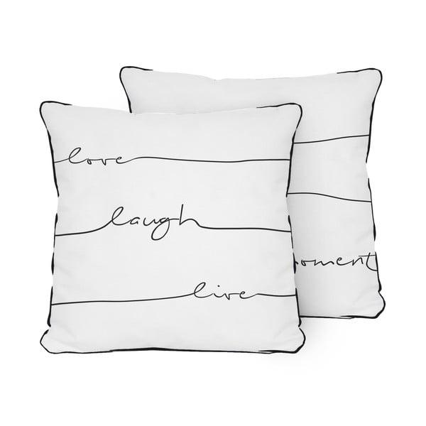 Poduszka Pillow Live Laugh Love, 45x45 cm