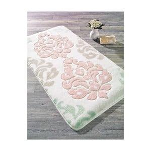 Różowy dywanik łazienkowy Confetti Damask, 50x57 cm