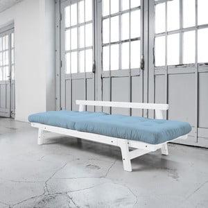 Sofa rozkładana Karup Step White/Celeste