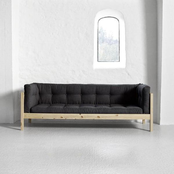 Sofa trzyosobowa Karup Fusion Natural/Linoso Dark Gray