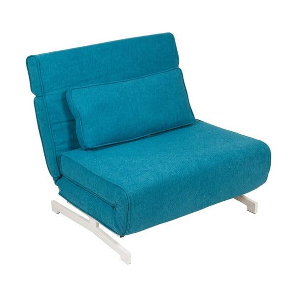 Niebieski fotel rozkładany Santiago Pons Sofia