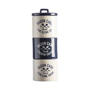 Zestaw pojemników z kamionki na herbatę, kawę i cukier Mason Cash Varsity